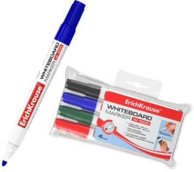 "Набор маркеров для доски ErichKrause ""W-500"" 4 цвета, 4 шт"