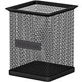 Металлическая подставка для пишущих принадлежностей Erich Krause Steel прямоугольная, чёрная