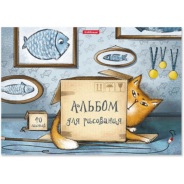 """Альбом для рисования на клею ErichKrause """"Cat & Box"""" А4, 40 листов"""