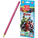 Пластиковые цветные карандаши Erich Krause ArtBerry Мcтители Самые могущественные герои Земли, 12 цветов