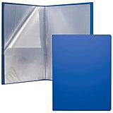 """Пластиковая файловая папка ErichKrause """"Classic"""" c 40 карманами, A4, синяя"""