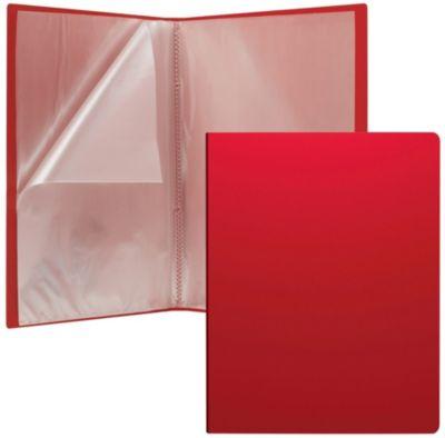 """Пластиковая файловая папка ErichKrause """"Classic"""" c 30 карманами, A4, красная"""
