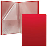 Пластиковая файловая папка Erich Krause Classic c 30 карманами, A4, красная
