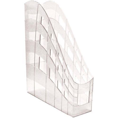 Пластиковая подставка для бумаг Erich Krause S-Wing вертикальная, 75 мм, прозрачная от Erich Krause
