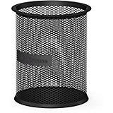 """Металлическая подставка для пишущих принадлежностей ErichKrause """"Steel"""" цилиндрическая, чёрная"""