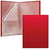 """Пластиковая файловая папка ErichKrause """"Classic"""" c 40 карманами, A4, красная"""