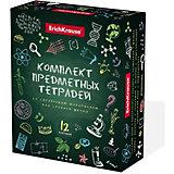 Комплект предметных тетрадей Erich Krause К доске!, 48 листов, клетка/линейка, со справочным материалом, 12 шт