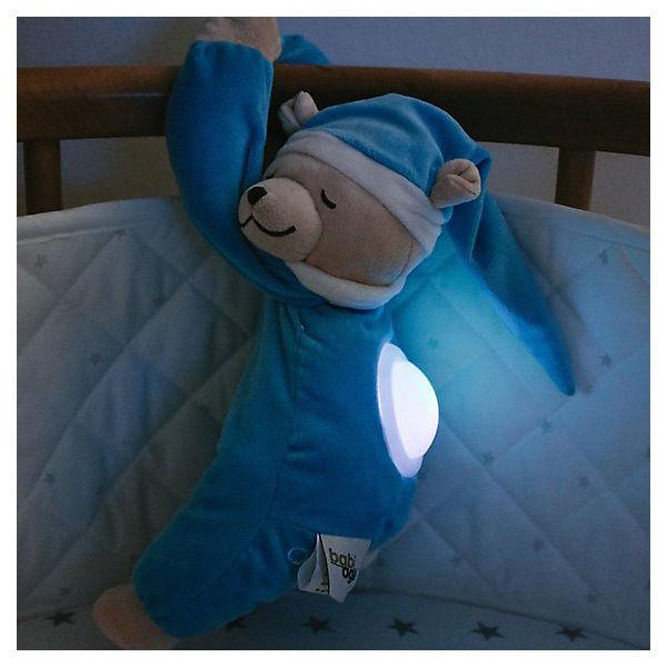 Игрушка для сна Doodoo с ночником Мишка Лу, голубая
