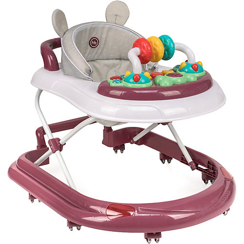 Ходунки Happy Baby Smiley V2, бордовые от Happy Baby