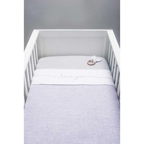 """Вязаный плед Jollein """"Melange knit"""" soft lilac, 75x100 см от Jollein"""