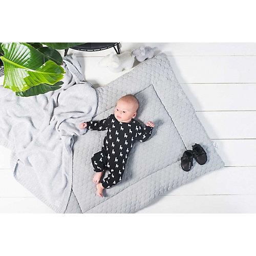 """Вязаный плед Jollein """"Melange knit"""" soft grey, 75х100 см от Jollein"""