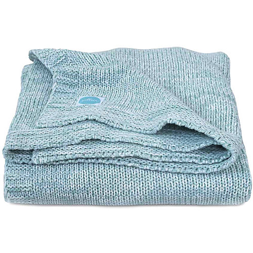 """Вязаный плед Jollein """"Melange knit"""" soft green, 75х100 см от Jollein"""