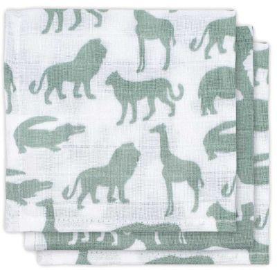 Комплект салфеток Jollein 3 шт., серо-зелёные сафари, 15х21 см