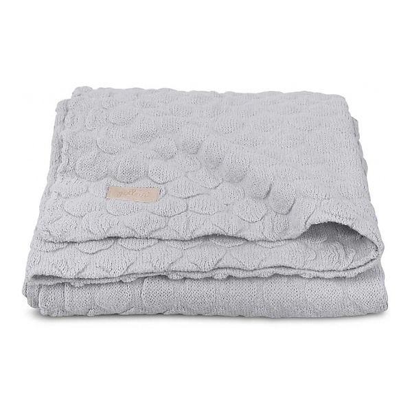 "Вязаный плед Jollein ""Fancy knit"" soft grey, 75x100 см"