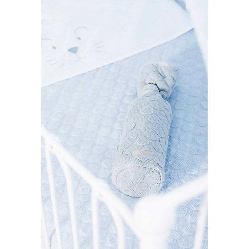 """Вязаный плед Jollein """"Fancy knit"""" baby blue, 75х100 см от Jollein"""