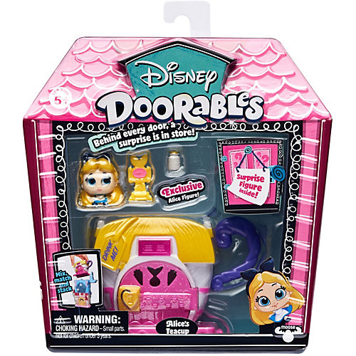 """Игровой набор Moose """"Disney Doorables"""" Алиса в стране чудес, 2 фигурки от Moose"""