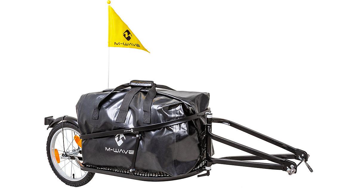M-WAVE · Einspur-Gepäck-Fahrradanhänger ´´Single 40´´ mit Tasche