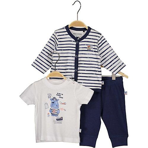 BLUE SEVEN Baby Set T-Shirt+Sweatjacke+Sweathose Gr. 56 Jungen Baby | 04055852413320