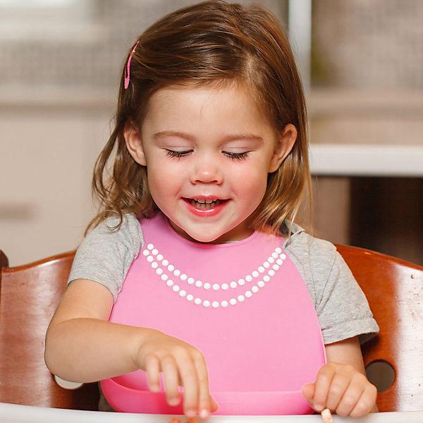 Нагрудник Baby Bib Breakfast at moms pink