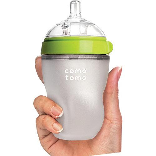 Бутылочка для кормления Comotomo Natural Feel, 250 мл., зелёный от Comotomo