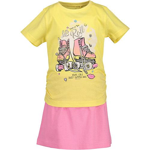 BLUE SEVEN Kinder Set T-Shirt + Rock Gr. 104 Mädchen Kleinkinder | 04055852419735