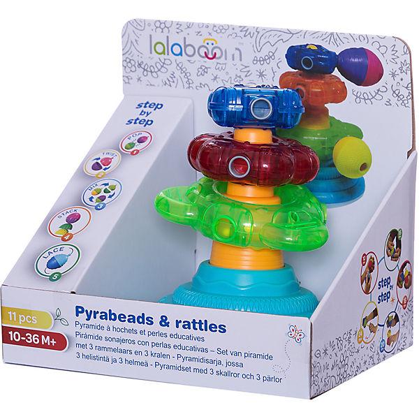 Развивающая игрушка Lalaboom Пирамида, 9 предметов