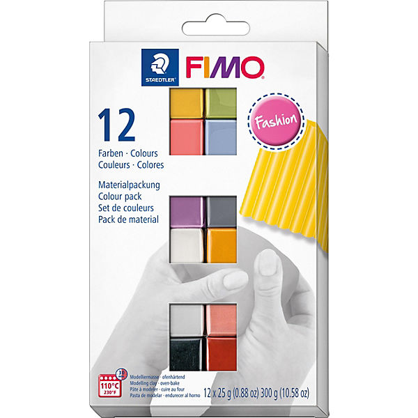FIMO soft Materialpackung Fashion Colours, 12 x 25 g