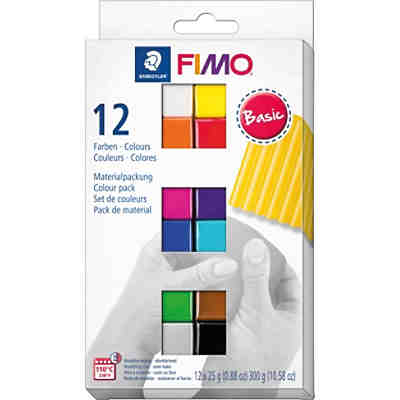 FIMO soft Materialpackung Basic Colours, 12 x 25 g