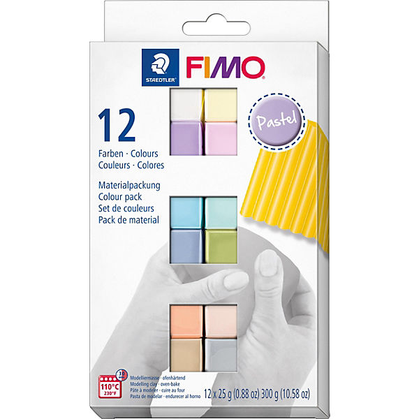 FIMO soft Materialpackung Pastel Colours, 12 x 25 g
