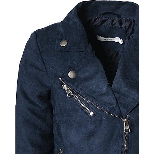 Кожаная куртка Name It - темно-синий от name it