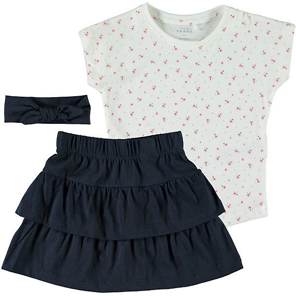 Комплект: Футболка, юбка и повязка Name it для девочки