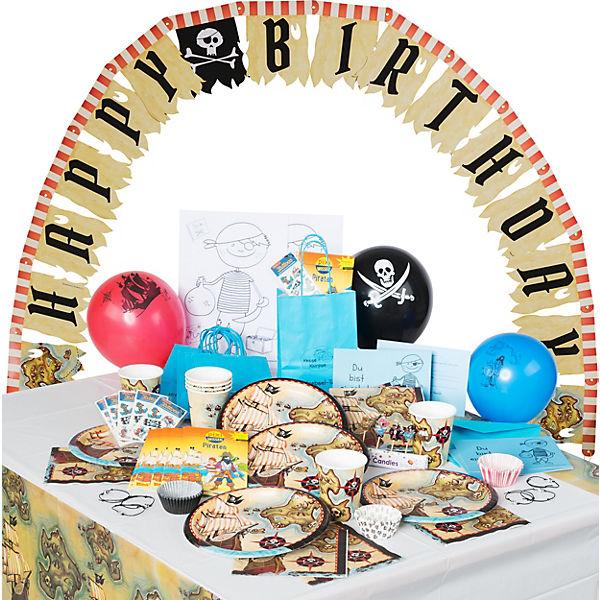 Gefährliche Piraten-Geburtstagskiste für 6 Kinder, 164 Teile, Kesse Knirpse