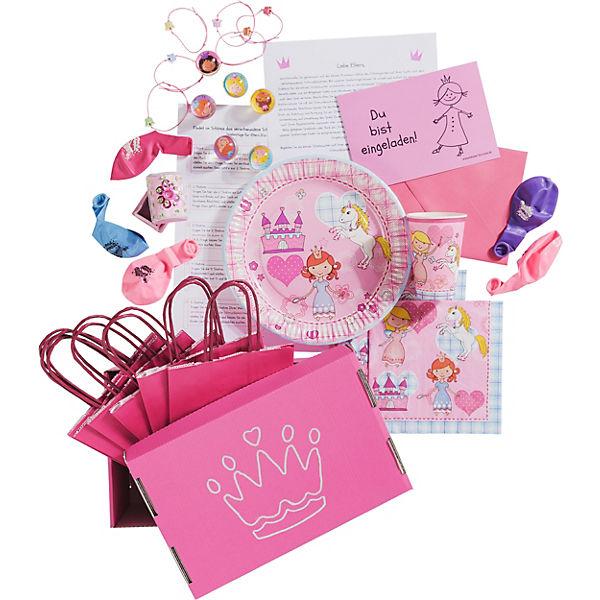 Prinzessinnen Schatzsuche + Kesse Geburtstagskiste für 6 Kinder, 89 Teile, Kesse + Knirpse 5bca9e