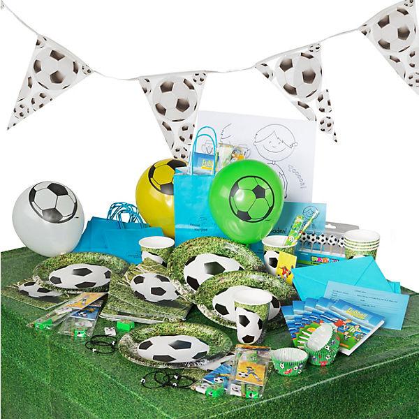 Meisterliche Fußball-Geburtstagskiste für 6 Kinder, 142 Teile, Kesse Knirpse