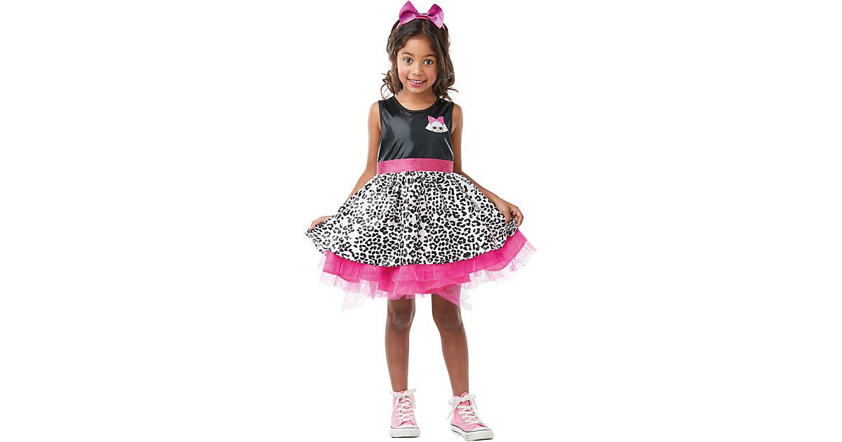 Kostüm L.O.L. Surprise Diva Deluxe schwarz/pink Gr. 122/134 Mädchen Kinder
