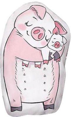 """Подушка Ligra """"Свинка"""" ручной работы, 20х35 см, розовая"""