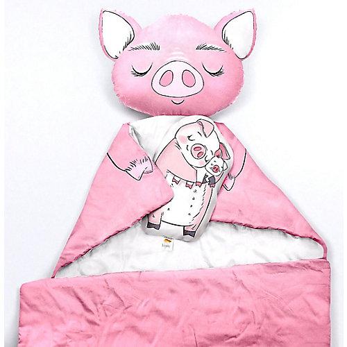 """Подушка Ligra """"Свинка"""" ручной работы, 20х35 см, розовая - розовый/розовый от Ligrasweethome"""