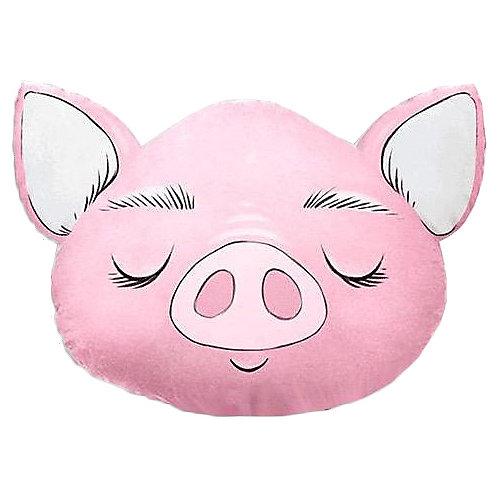 """Подушка Ligra """"Свинка"""" ручной работы, 50х55 см, розовая - розовый от Ligrasweethome"""