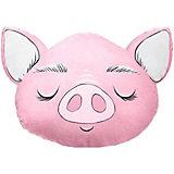 """Подушка Ligra """"Свинка"""" ручной работы, 50х55 см, розовая"""