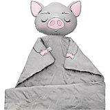 "Плед Ligra ""Свинка"", 100x150 см, серый"
