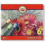 """Набор сухой пастели KOH-I-NOOR """"Toison D'or"""", 6 цветов"""