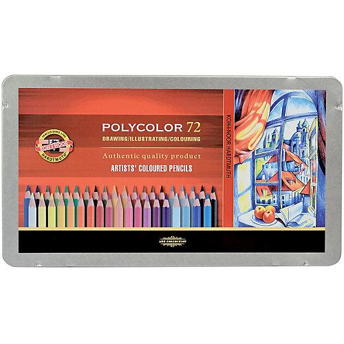 """Набор цветных художественных карандашей KOH-I-NOOR """"Polycolor"""", 72 цвета"""