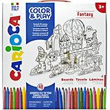 """Набор для рисования Carioca """"Color&Play"""" Fantasy, 52 предмета"""