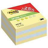 """Бумага для заметок с липким слоем 3M """"Post-It Optima"""" Осень, канареечный жёлтый, 500 листов"""