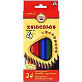 """Набор цветных карандашей KOH-I-NOOR """"Triocolor"""", 24 цвета"""