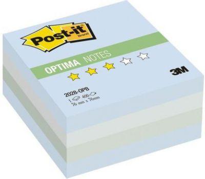 """Бумага для заметок с липким слоем 3M """"Post-It Optima"""" Зима, голубая пастельная радуга, 400 листов"""