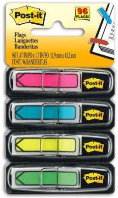 """Закладки-стрелки 3M """"Post-It Index"""", 4 неоновых цвета"""