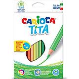 """Набор цветных карандашей Carioca """"Tita"""" шестиугольные, 18 цветов"""