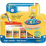 """Набор темперный красок Carioca """"Tempera"""" с кисточкой, 5 цветов"""