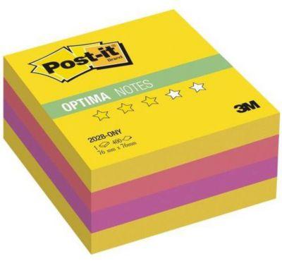 """Бумага для заметок с липким слоем 3M """"Post-It Optima"""" Лето, жёлтая неоновая радуга, 400 листов"""